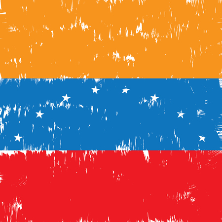 venezuelan: Textured Venezuelan flag, Vector illustration