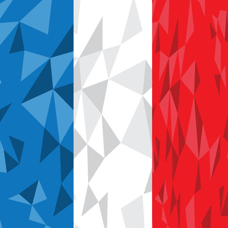 french flag: Textured French flag, Vector illustration