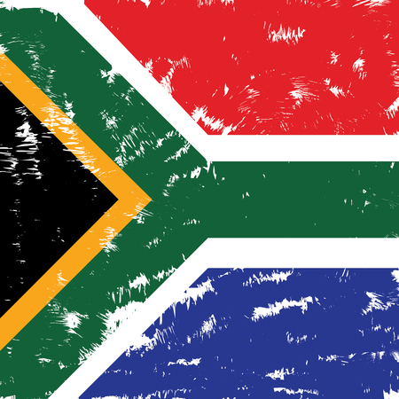 south african: Textured South African flag, Vector illustration Illustration