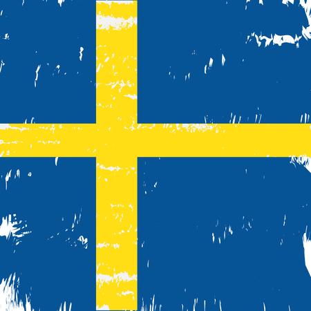 Textured Swedish flag, Vector illustration