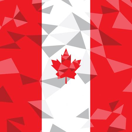 canadian flag: Textured Canadian flag, Vector illustration Illustration