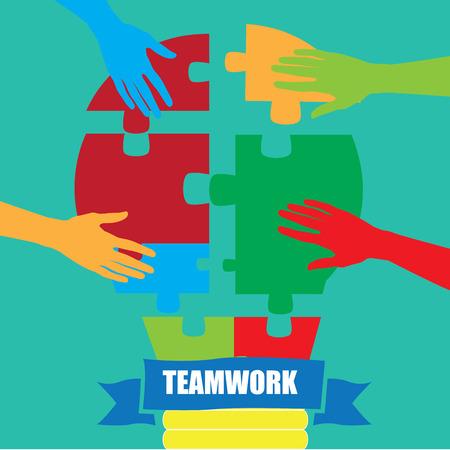 teamwork: Business teamwork concept design, Vector illustration Illustration