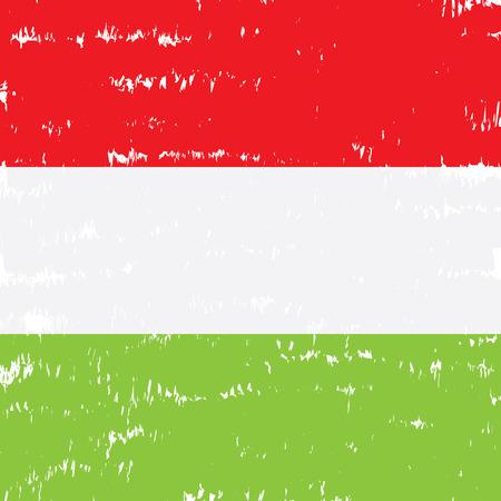 hungarian: Textured Hungarian flag, Vector illustration