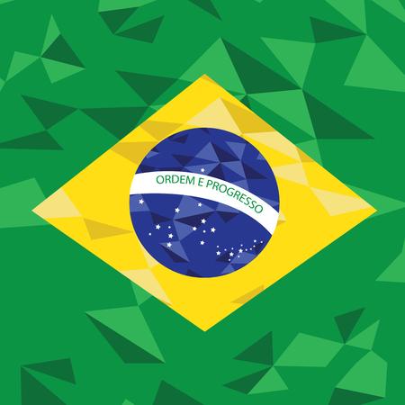 brazilian: Textured Brazilian flag, Vector illustration