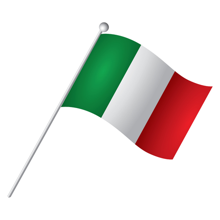 Isolated Italian flag, Vector illustration