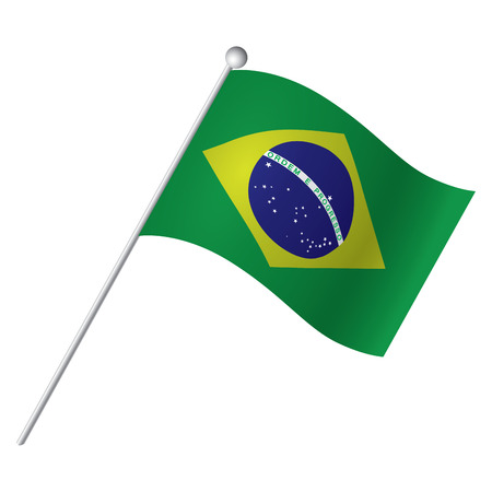 brazilian flag: Isolated Brazilian flag, Vector illustration Illustration
