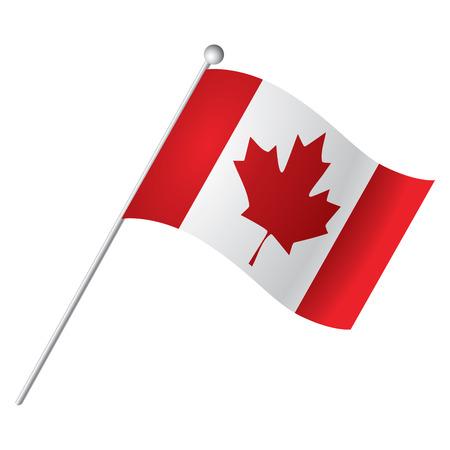 drapeau canadien isolé, vecteur, Illustration Vecteurs