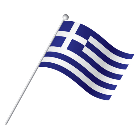 Isolated Greek flag, Vector illustration