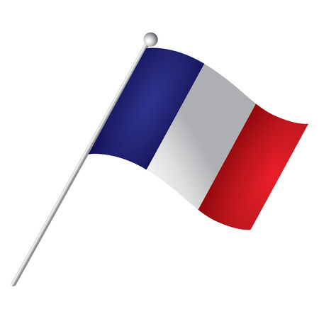 french flag: Isolated French flag, Vector illustration