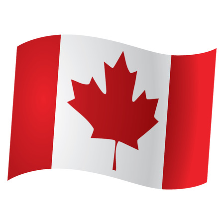 canadian flag: Isolated Canadian flag, Vector illustration