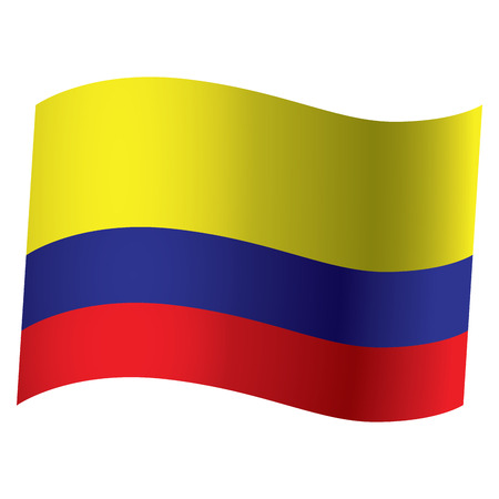 colombian flag: Isolated Colombian flag, Vector illustration