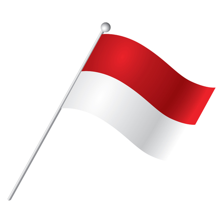 indonesian: Isolated Indonesian flag, Vector illustration