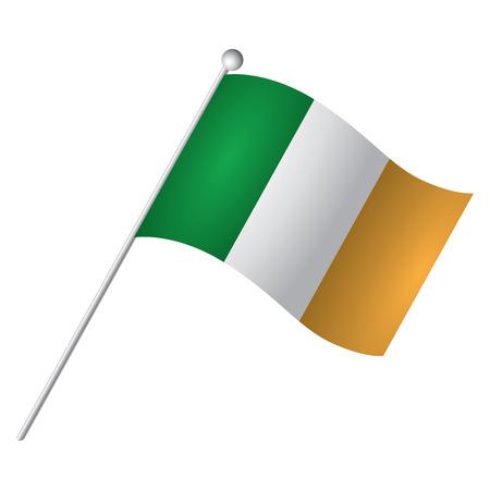 irish: Isolated Irish flag, Vector illustration Illustration