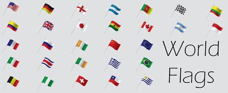 bandera de colombia: Conjunto de banderas del mundo, ilustración vectorial