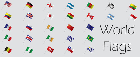Set of world flags, Vector illustration