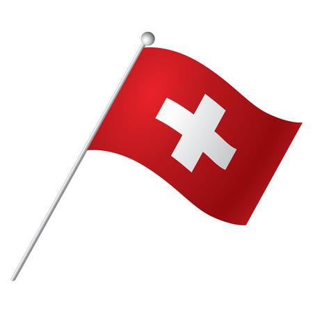 Isolated flag of Switzerland, Vector illustration Illusztráció