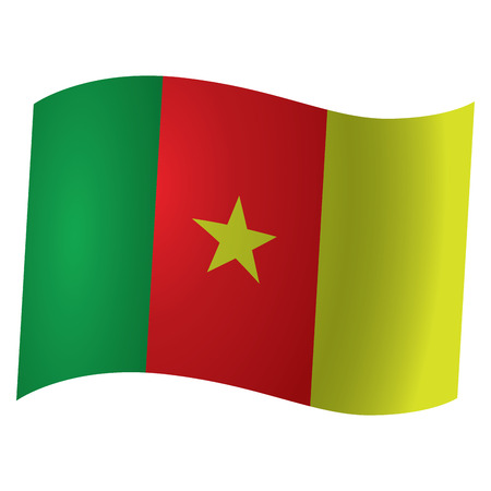 cameroon: Isolated flag of Cameroon, Vector illustration