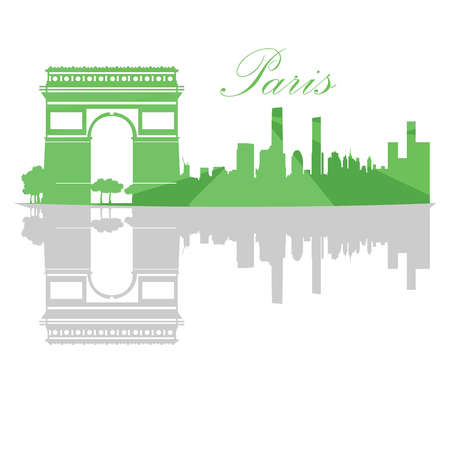 isolatd: Isolated Paris skyline on a white background, Vector illustration