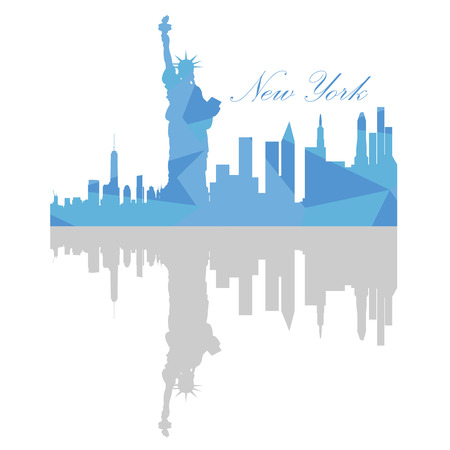 new york skyline: Isolated New York skyline on a white background, Vector illustration