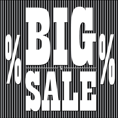 big sales: Black friday template, Big sales, Vector illustration