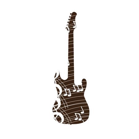 pentagramma musicale: Isolato collage di, illustrazione vettoriale