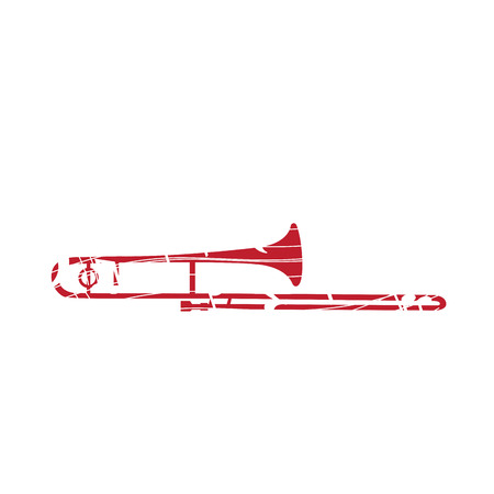 trumpet isolated: Isolated collage of a trumpet, Vector illustration
