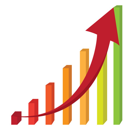 profitable: Abstract profit business graph bar, Vector illustration Illustration