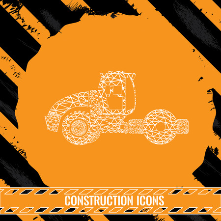 dump truck: Isolated dump truck, Construction icon, Vector illustration
