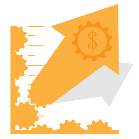 Abstract profit business graph bar, Vector illustration