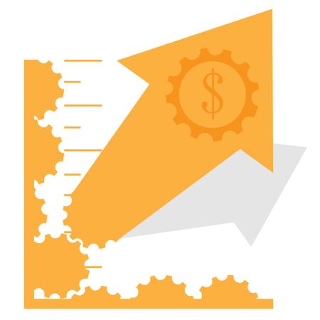 Abstract profit business graph bar, Vector illustration Illustration