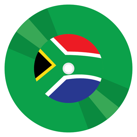 Isolated flag of South Africa on a CD, Vector illustration Illustration
