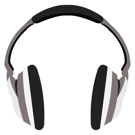 Isolated headphones on a white background, Vector illustration