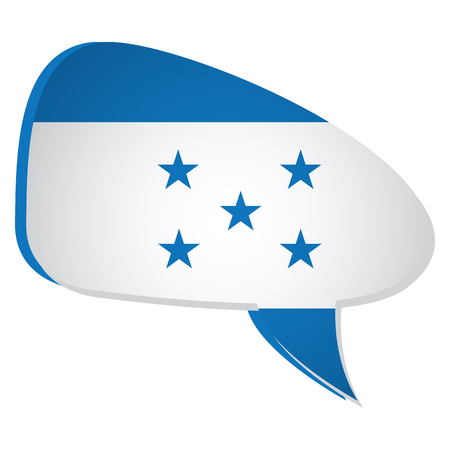 bandera honduras: Isolated flag of honduras on a bubble chat, Vector illustration