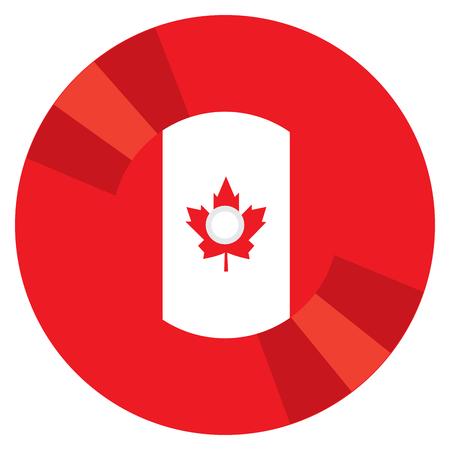 canadian flag: Isolated Canadian flag on a CD, Vector illustration Illustration