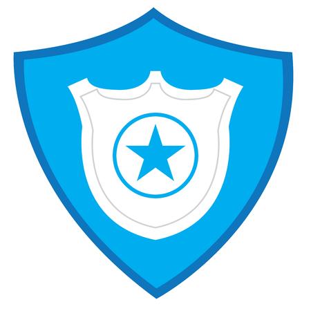 isolated police badge silhouette on a heraldry shield vector rh 123rf com police badge vector shape police badge vector psd