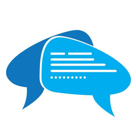 chat bubbles: Isolated pair of speech bubbles, Chat service vector illustration