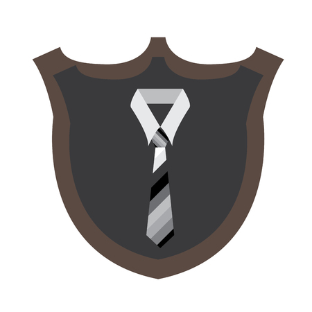 judgement day: Isolated silhouette of a necktie, Vector illustration