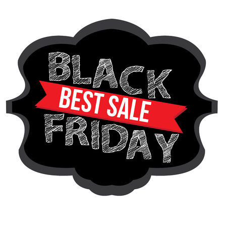 stock clipart icons: Isolated black friday label on a white background, Vector illustration