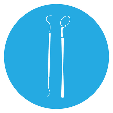 surgery tools: Isolated silhouette of a pair of surgery tools, Vector illustration