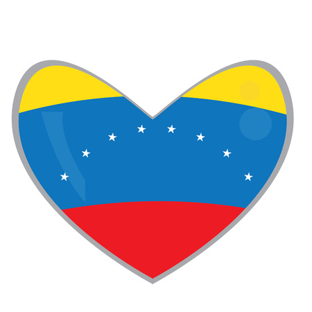 venezuelan: Isolated Venezuelan flag on a heart shape, Vector illustration Illustration