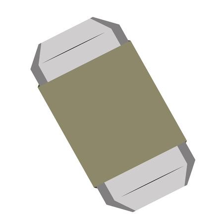 eraser: Isolated grey eraser, School supply vector illustration Illustration