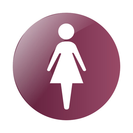 bathroom icon: Isolated lady bathroom icon on a white background, Vector illustration