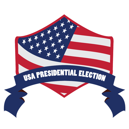 Isolated election day label on a white background, Vector illustration