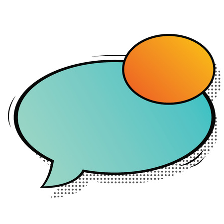 Isolated comic speech bubble on a white background, Vector illustration Vettoriali
