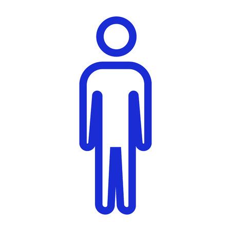 bathroom icon: Isolated gentleman bathroom icon on a white background, Vector illustration Illustration