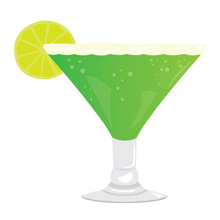 Isolated cocktail with a lemon, Vector illustration Illustration