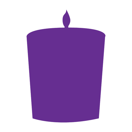 massage symbol: Isolated silhouette of a candle, Spa icon vector illustration