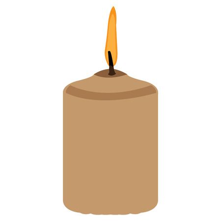 massage symbol: Isolated candle with fire, Spa icon vector illustration Illustration