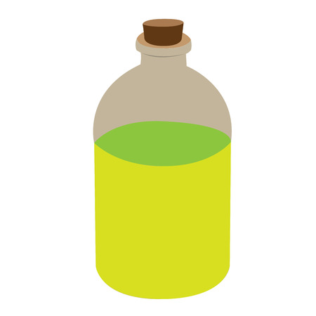massage symbol: Isolated flask of lotion, Spa vector illustration Illustration