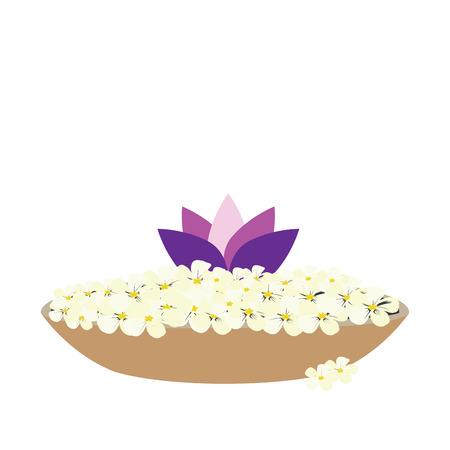 Isolated bowl with flowers, Spa vector illustration
